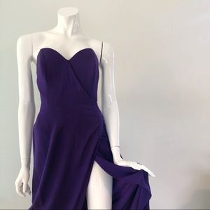 Vintage 1980's Strapless Purple Hourglass Gown